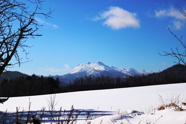 冬の夕張岳