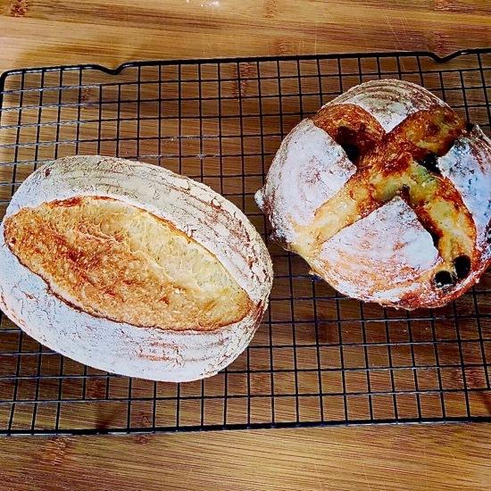 今日のパンは加水率80%のカンパーニュ
