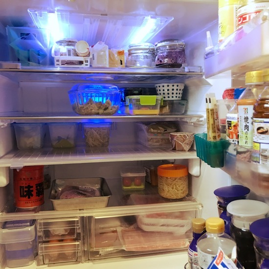 冷蔵庫お掃除のついでに冷蔵室収納の見直し