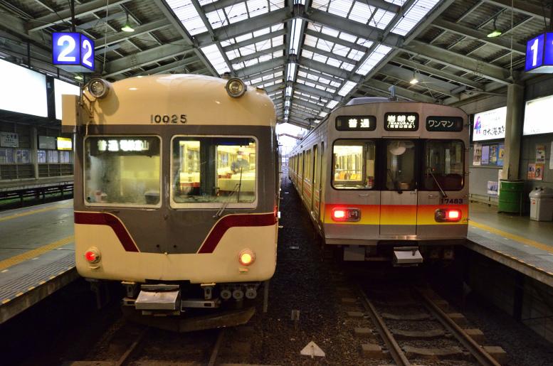 12/25-27 年末旅行2018 富山地鉄のたび その10(立山→電鉄富山) ラッシュ時限定、3両編成の地鉄電車