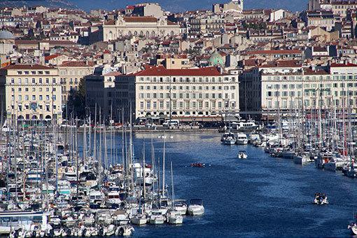 マルセイユ旧港望遠一望