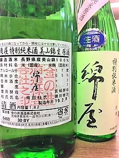 20190220綿屋美山錦新酒