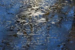 Frozen Pond Water