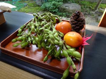 お供え枝豆