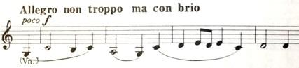楽譜 ブラームス 交響曲第1番 終楽章のテーマ