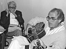 トゥーツ・シールマンス(左)とルグラン、1989年