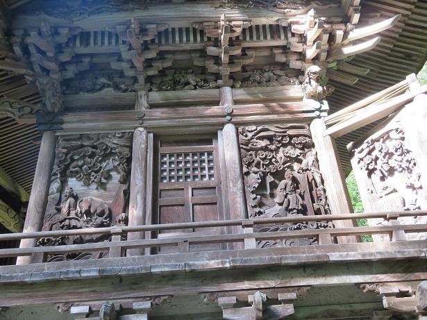 大瀧神社 本殿の彫刻