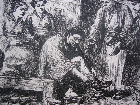ワ―グマン 「文明開化 下駄から靴へ」