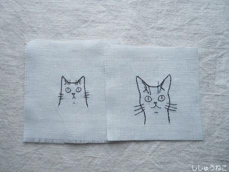 線描き刺繍