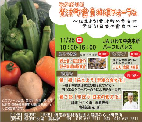 食育推進フォーラム(紫波新聞記事)