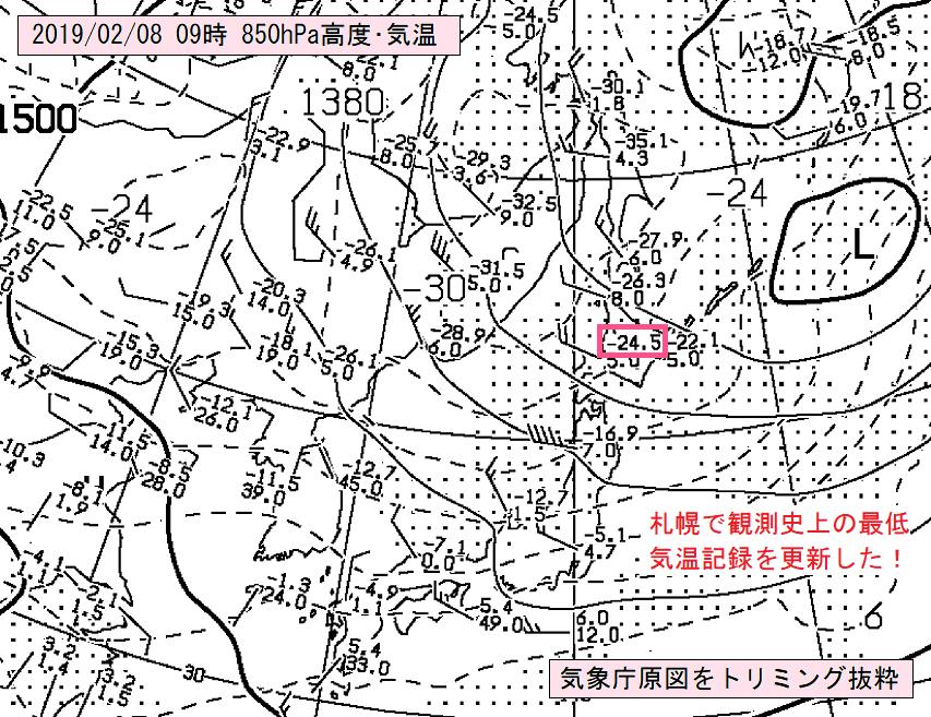 札幌で観測史上の低温記録を更新!