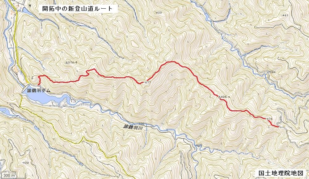 開拓中の新登山道ルート