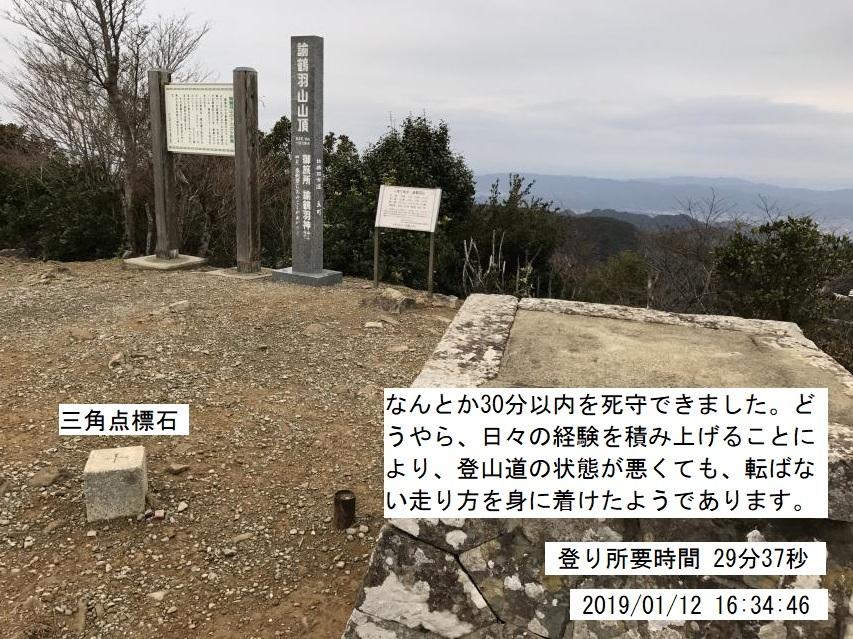 2019年1月12日の駆け足登山