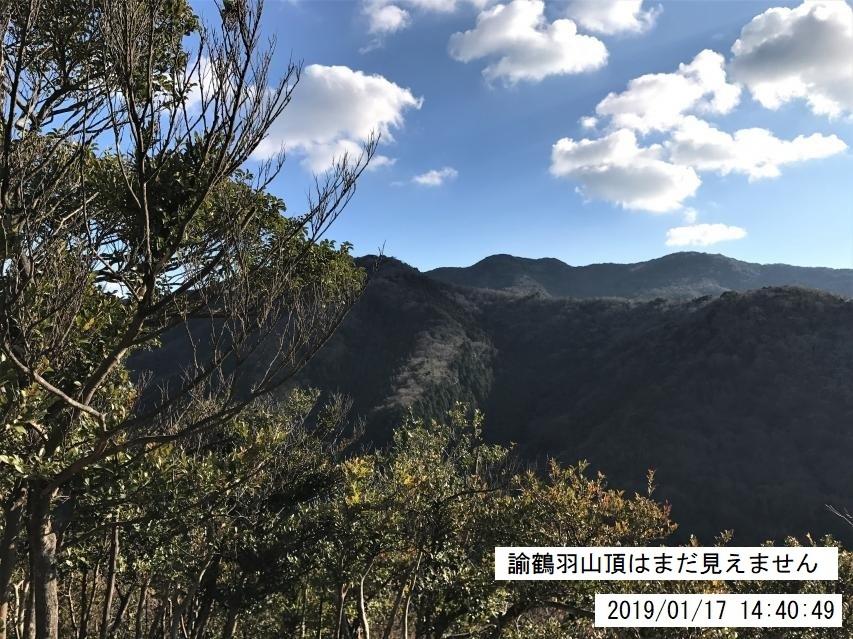 2019年1月17日、諭鶴羽川源流地帯大周回コース駆け足