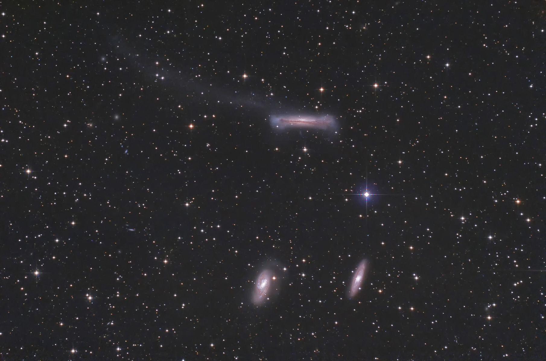 【銀河】しし座トリオ銀河と、NGC1300棒渦巻銀河