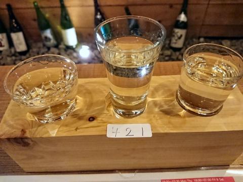日本酒利き酒セット@はな酒バー