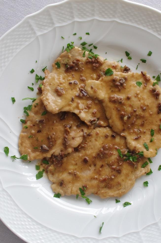豚ヒレ肉のスカロッピーネ アンチョビ2