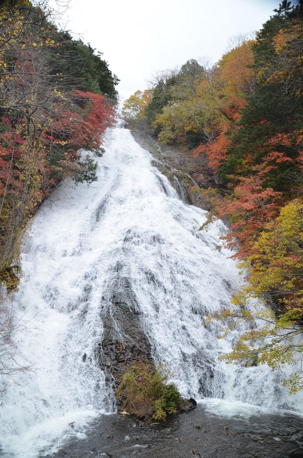 DSC_0343湯滝の紅葉見事