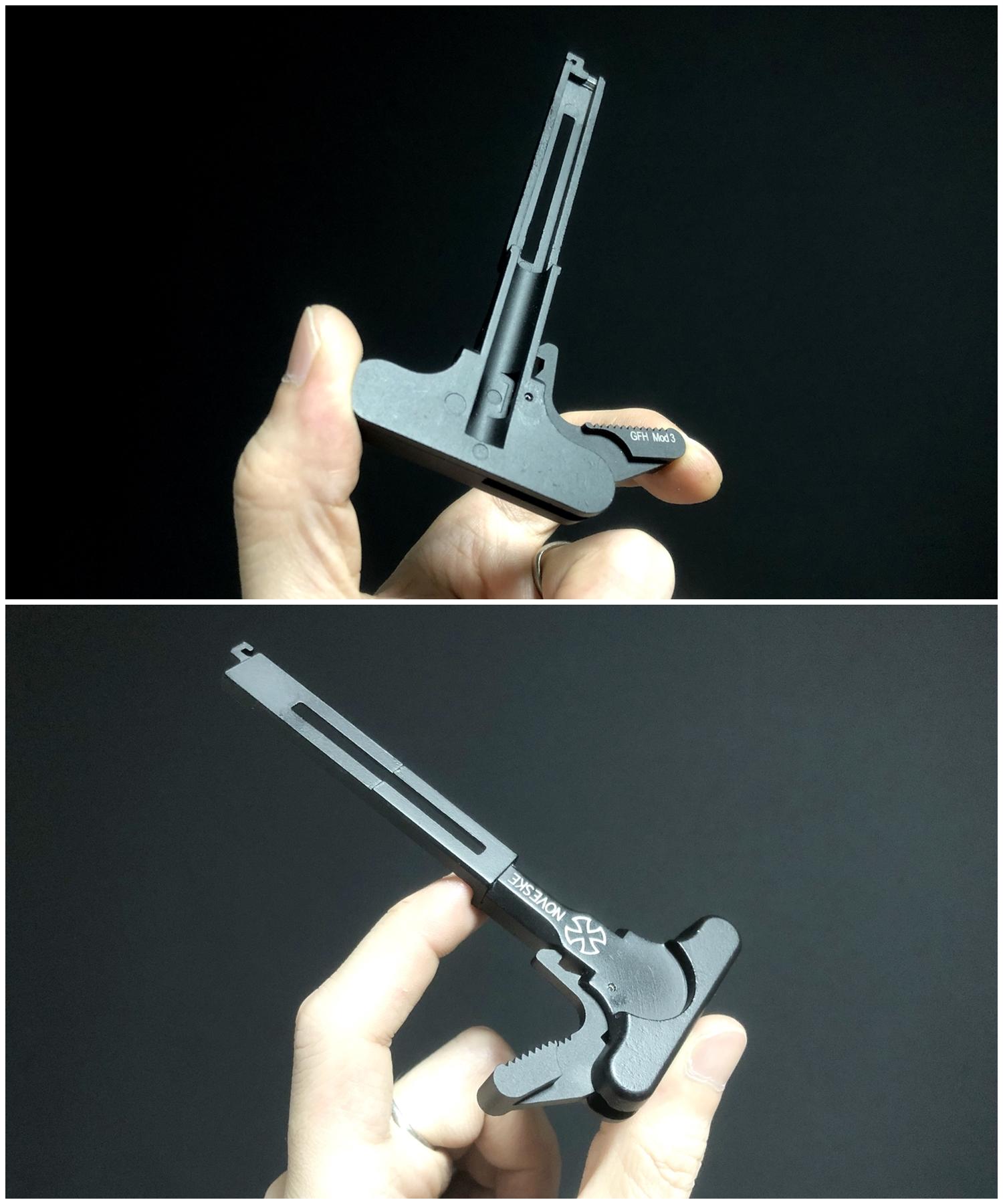 12 次世代 M4 CQB-R チャージングハンドルを考える!! BCM Mod3 チャージングラッチを加工してレプリカを作ってみる!! アンビ化計画 交換 取付 DIY レビュー!!