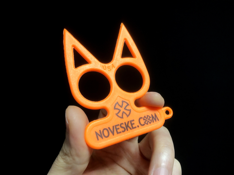 2実物 NOVESKE Equalizer Keychain Plastic marked MADE IN USA!! ノベスケ ノベスキー キャットナックル キーチェーン 護身用 雑貨 小物 ミリタリー!!購入 レビュー