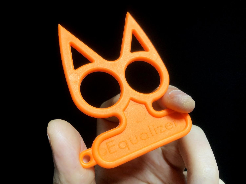 3実物 NOVESKE Equalizer Keychain Plastic marked MADE IN USA!! ノベスケ ノベスキー キャットナックル キーチェーン 護身用 雑貨 小物 ミリタリー!!購入 レビュー.JPG