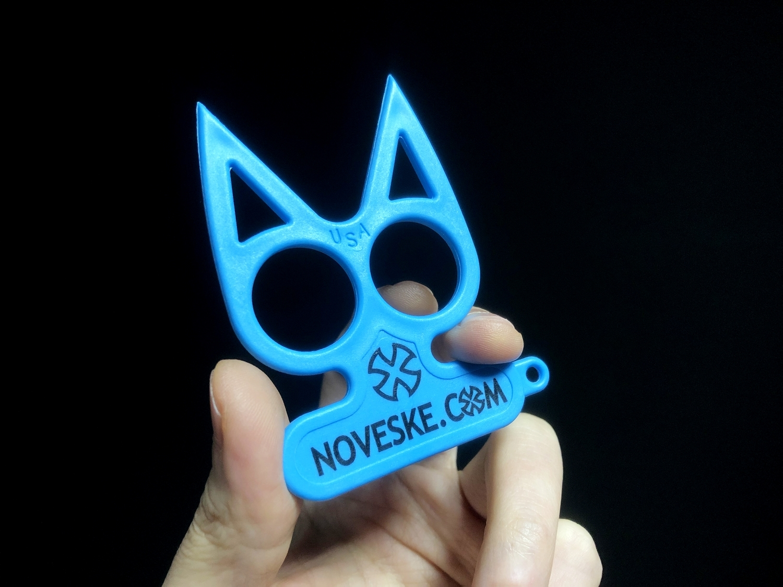 4実物 NOVESKE Equalizer Keychain Plastic marked MADE IN USA!! ノベスケ ノベスキー キャットナックル キーチェーン 護身用 雑貨 小物 ミリタリー!!購入 レビュー