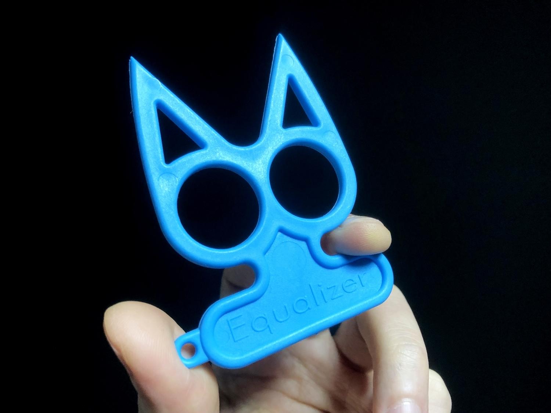 5実物 NOVESKE Equalizer Keychain Plastic marked MADE IN USA!! ノベスケ ノベスキー キャットナックル キーチェーン 護身用 雑貨 小物 ミリタリー!!購入 レビュー