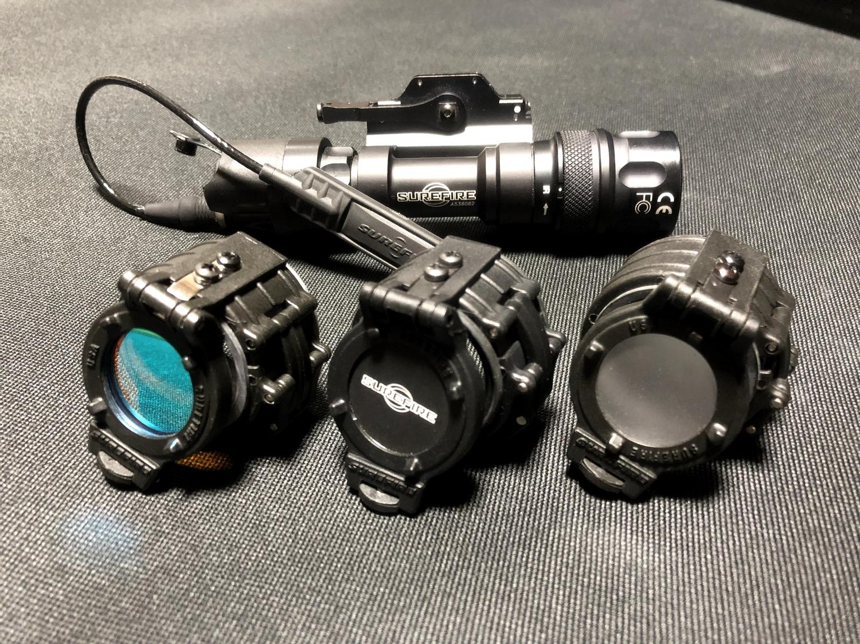 12 SUREFIRE FM45 RED FILTER FM4X 1 37 BEZEL M952V M900V IR シュアファイアー レッドフィルター ウェポンライト 検証 取付 レビュー!!