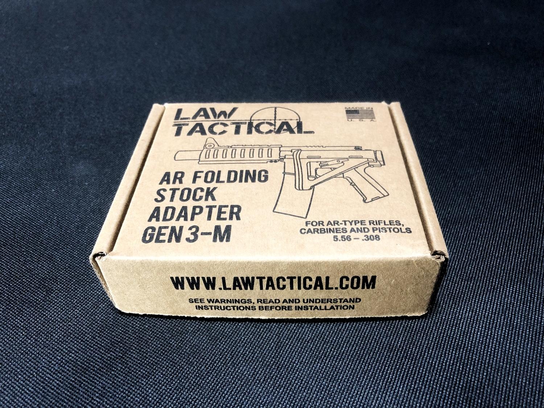 3 実物 LAW TACTICAL GEN 3-M AR FOLDING STOCK ADAPTER!! やっと我が家へやって来た!! 前期 後期 比較 購入 レビュー!!