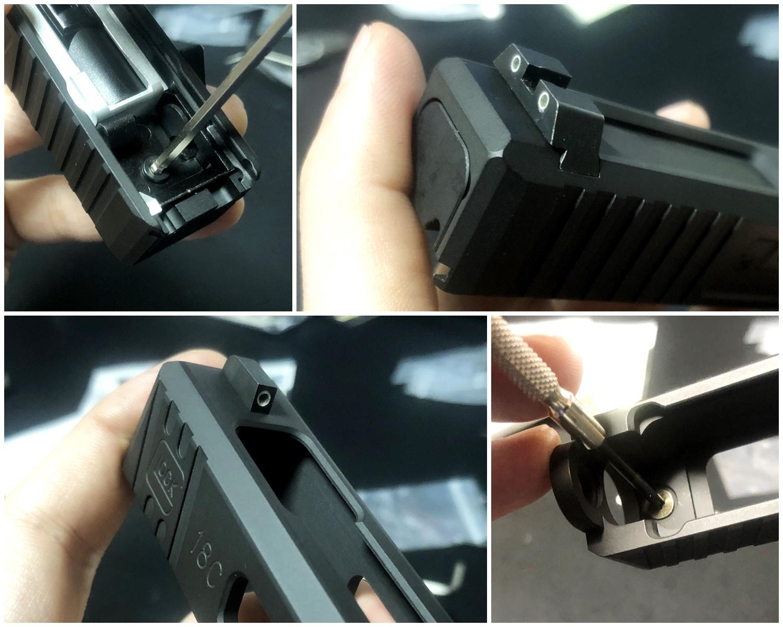 27【前半】 SAI GLOCK カスタムスライド G18C 組込完了!! やっと組み立てたぞ!! Guns Modify Salient Arms GM0251 スライドパーツ 購入 組込 分解 取付 カスタム レビュー!!
