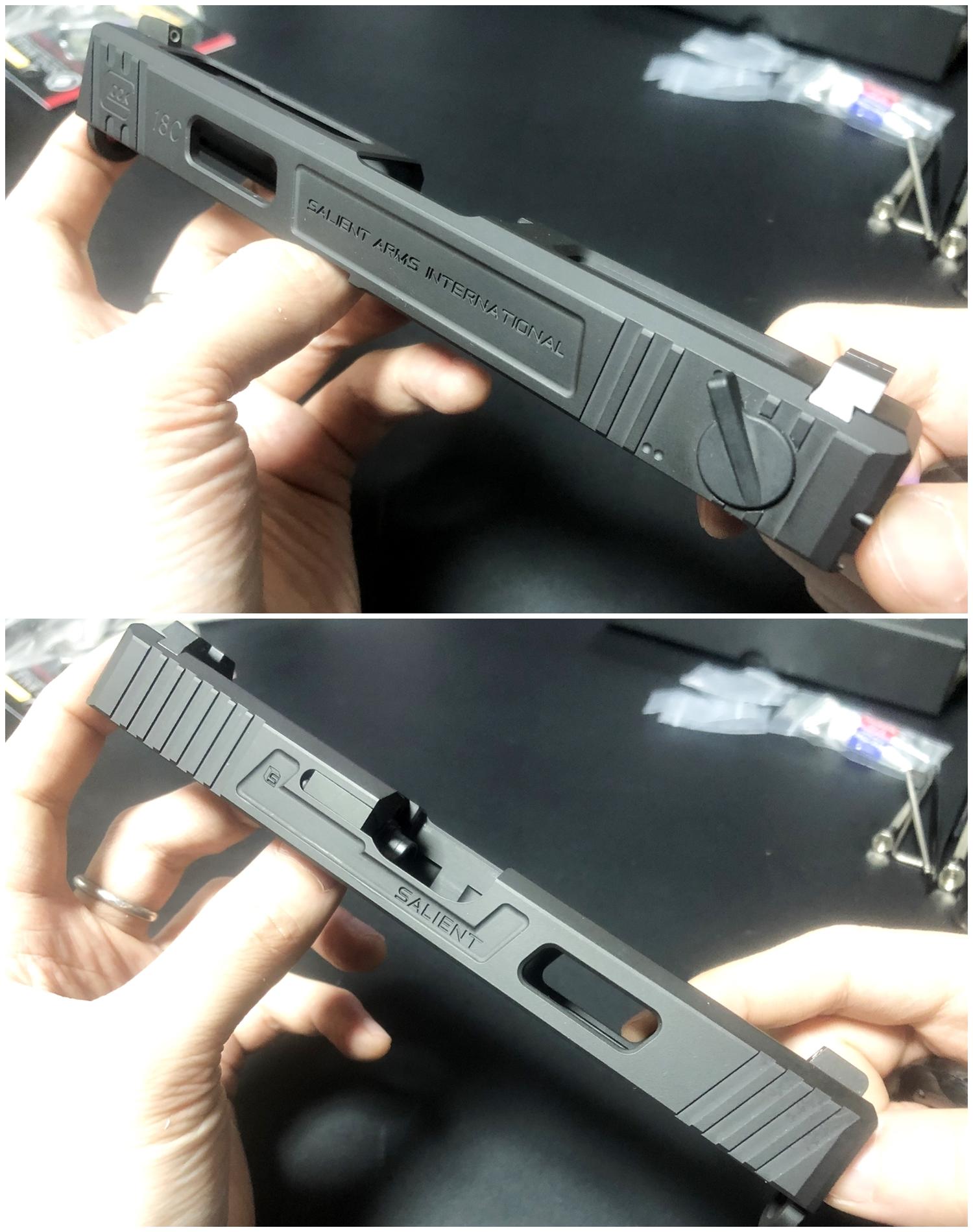 28【前半】 SAI GLOCK カスタムスライド G18C 組込完了!! やっと組み立てたぞ!! Guns Modify Salient Arms GM0251 スライドパーツ 購入 組込 分解 取付 カスタム レビュー!!