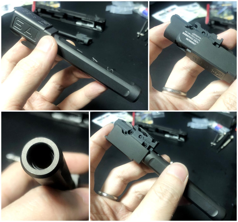 32【前半】 SAI GLOCK カスタムスライド G18C 組込完了!! やっと組み立てたぞ!! Guns Modify Salient Arms GM0251 スライドパーツ 購入 組込 分解 取付 カスタム レビュー!!