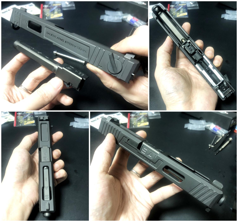 33【前半】 SAI GLOCK カスタムスライド G18C 組込完了!! やっと組み立てたぞ!! Guns Modify Salient Arms GM0251 スライドパーツ 購入 組込 分解 取付 カスタム レビュー!!