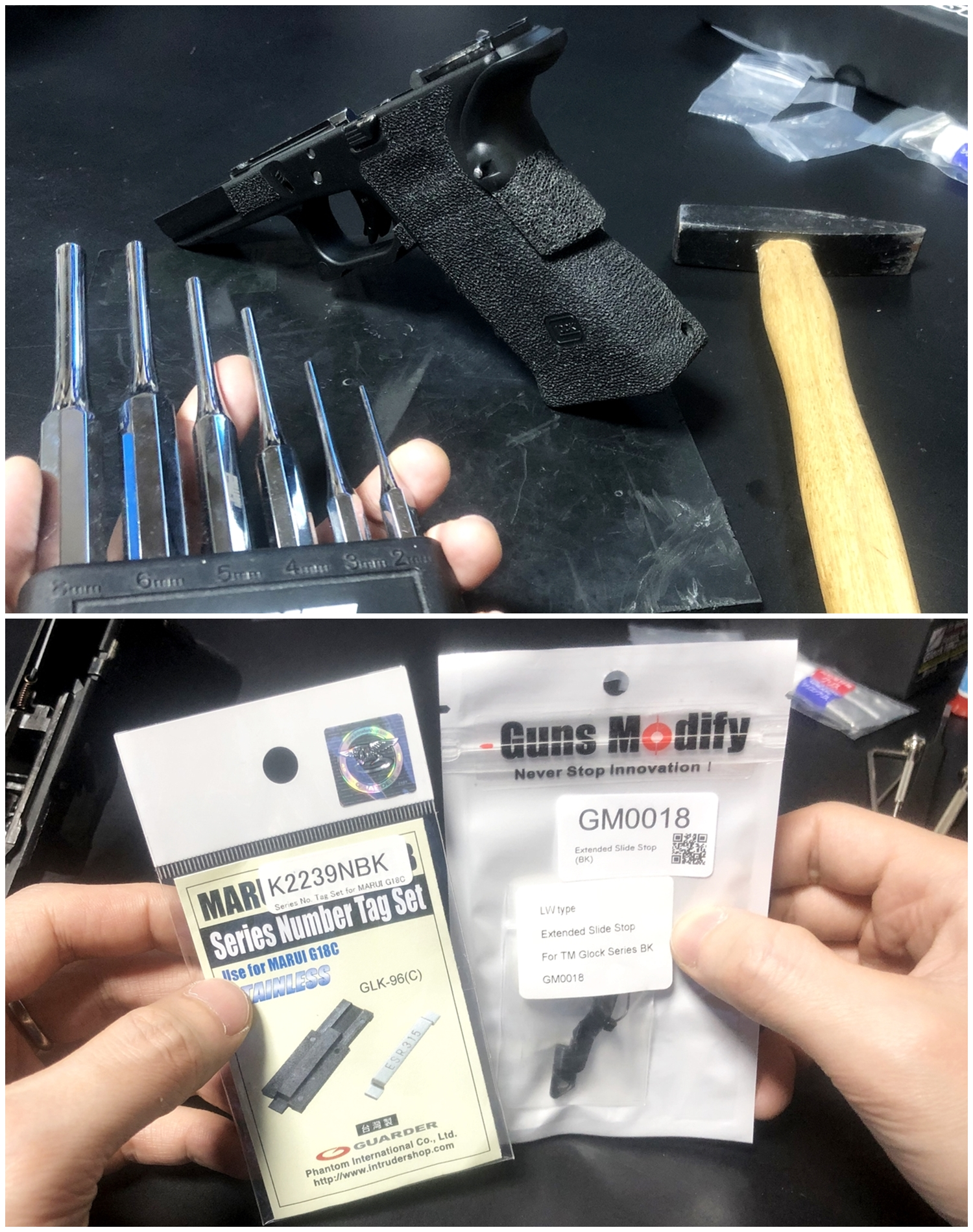 35【前半】 SAI GLOCK カスタムスライド G18C 組込完了!! やっと組み立てたぞ!! Guns Modify Salient Arms GM0251 スライドパーツ 購入 組込 分解 取付 カスタム レビュー!!