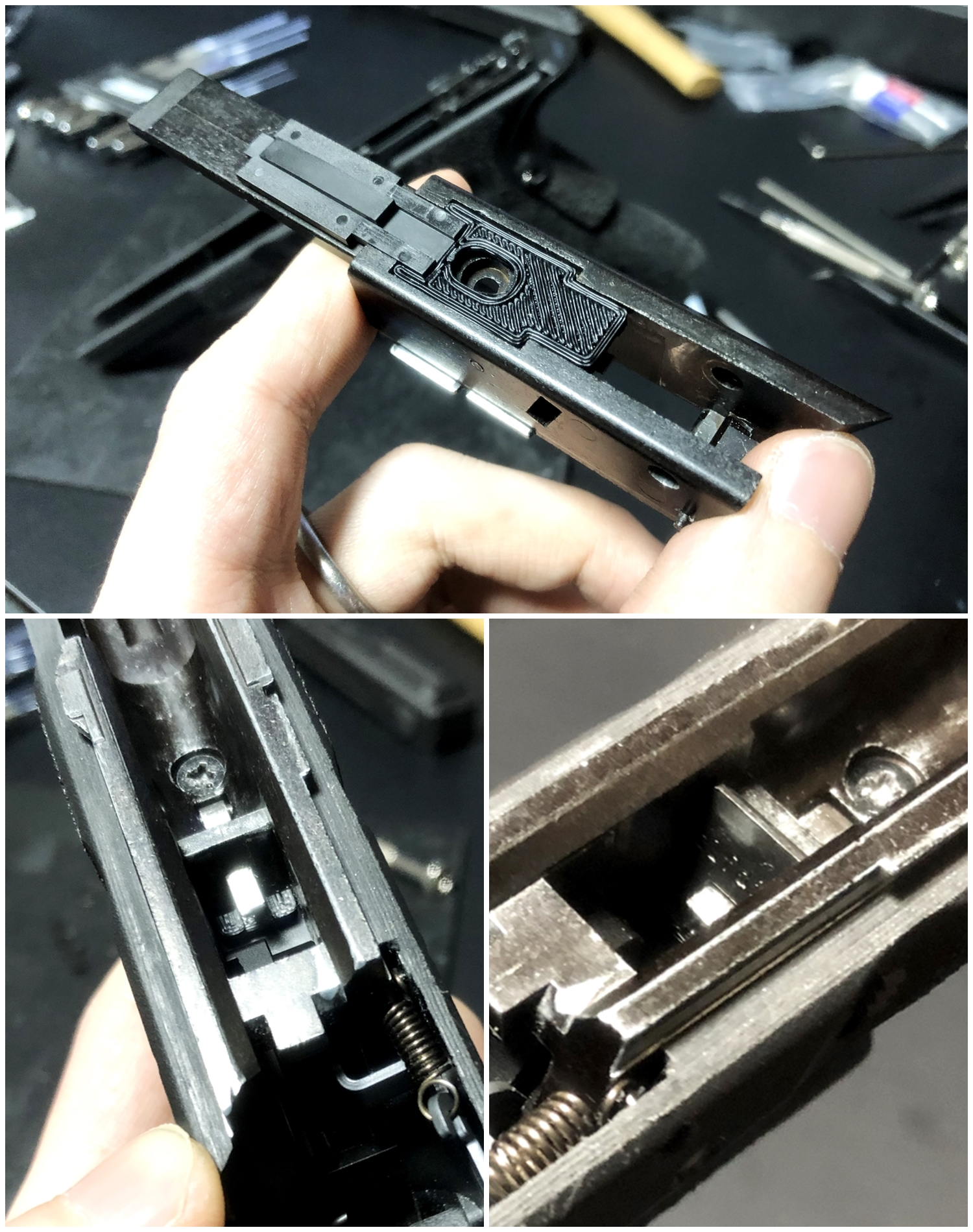 41【前半】 SAI GLOCK カスタムスライド G18C 組込完了!! やっと組み立てたぞ!! Guns Modify Salient Arms GM0251 スライドパーツ 購入 組込 分解 取付 カスタム レビュー!!