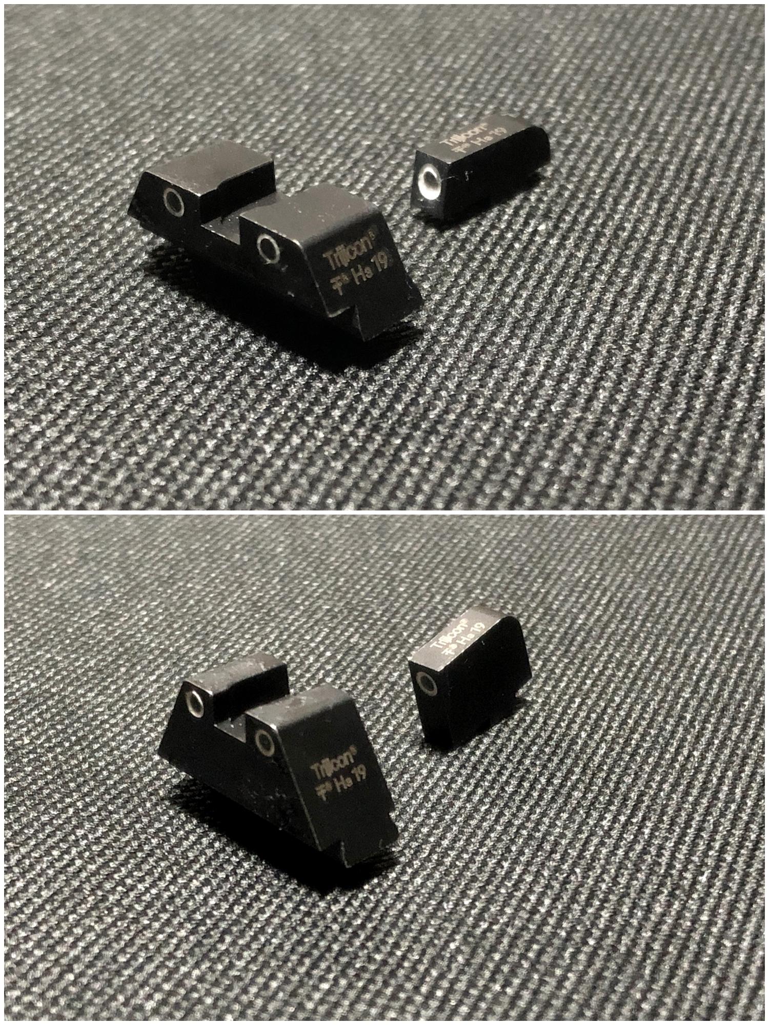 2 GLOCK Trijicon TRITIUM NIGHT SIGHTS HD HI LOW Guns Modify!! グロック トリジコン トリチウム サイト GET!! 購入 検証 取付 レビュー!! したるの巻!!