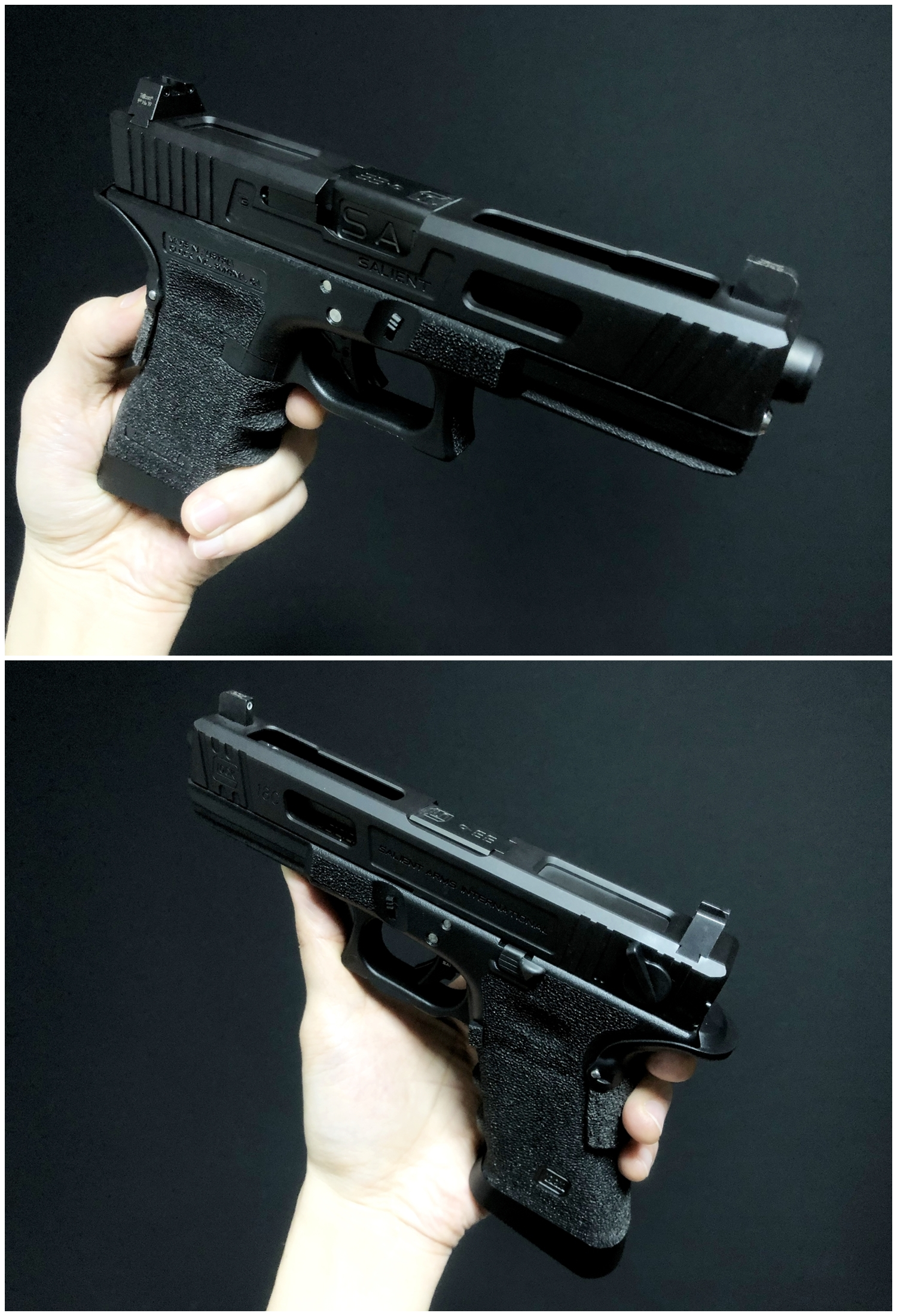 55 GLOCK Trijicon TRITIUM NIGHT SIGHTS HD HI LOW Guns Modify!! グロック トリジコン トリチウム サイト GET!! 購入 検証 取付 レビュー!! したるの巻!!