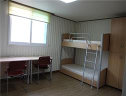 語学堂の寮の二人部屋の写真
