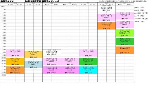 大阪ポールダンス梅田スタジオレッスンスケジュール