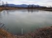 ため池全面結氷