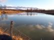 氷が溶けたため池