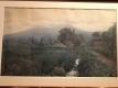 晩霞の八重原の風景画