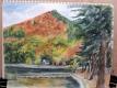 ジイの描いた木崎湖の絵