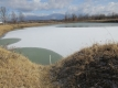 ため池の雪