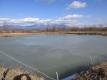 ため池の氷が再結氷