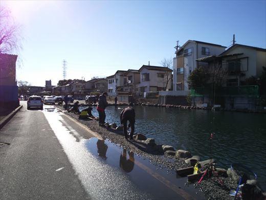 初釣りは朝霞ガーデン (8)