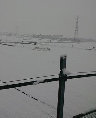 大雪の大垣