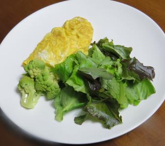 ミックスレタス生野菜サラダと卵焼き