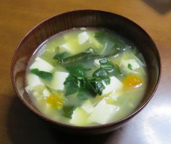 コマツナ味噌汁