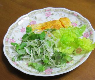 ホウレンソー入り生野菜サラダ